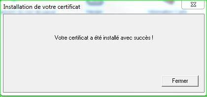 Certificat Carte e-Business