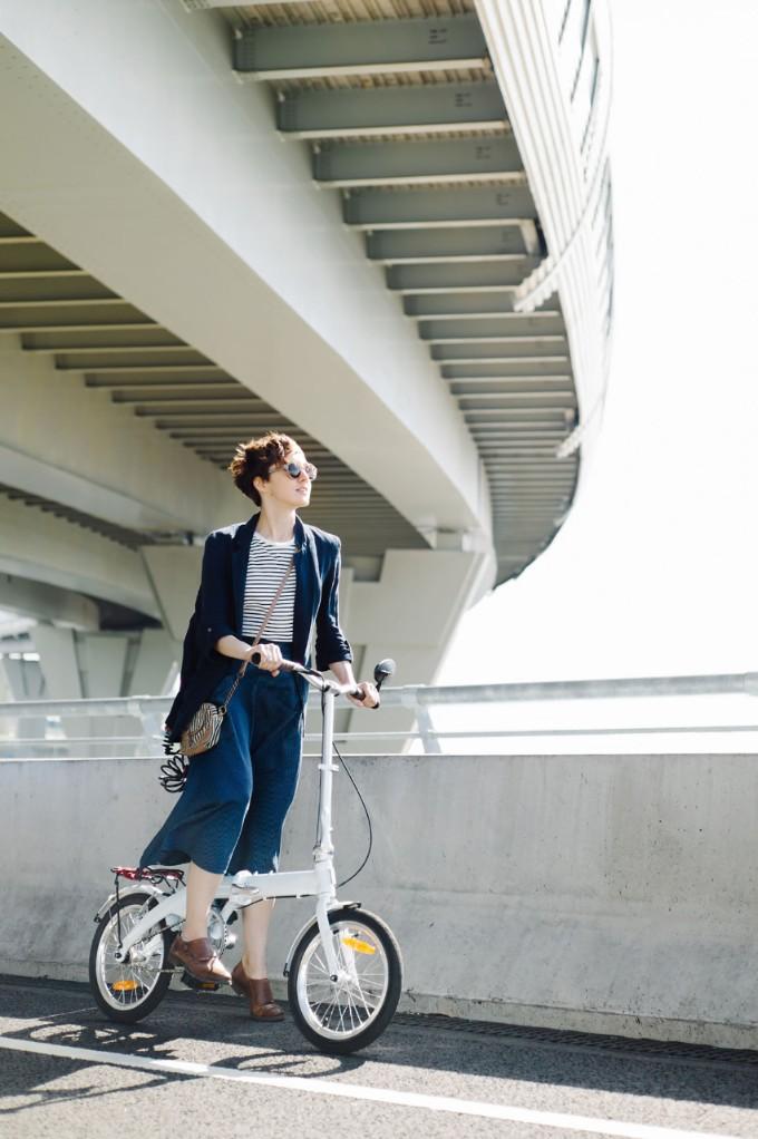 Stylish Model On Bicycle