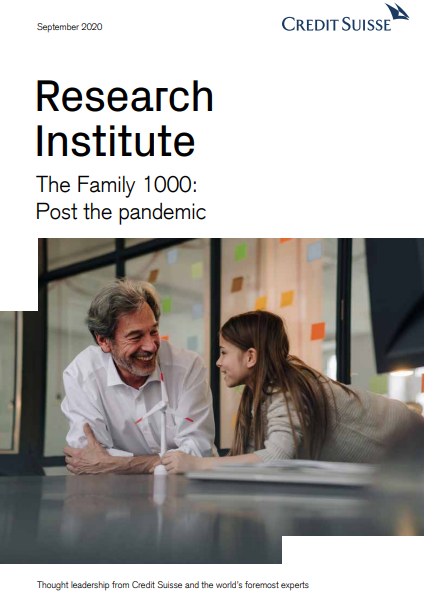 """Rapport """"Credit Suisse Family 1000: Post the Pandemic"""" 2020"""
