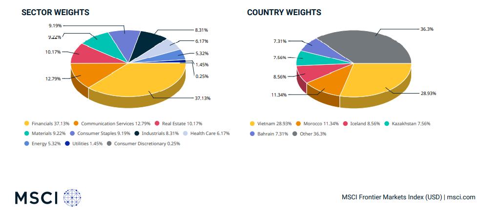 Graphique: indice MSCI Frontier market